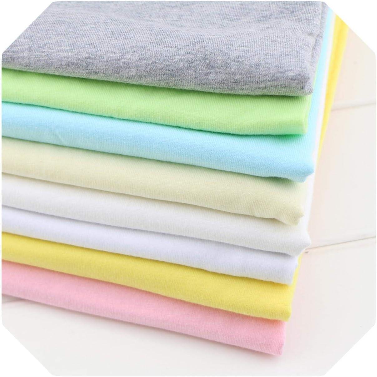Tejido Para Decoración | Tejido de punto de algodón elástico de 50 * 160 cm para coser bricolaje Ropa de algodón para bebés que hace tela por medio metro-Rosa-