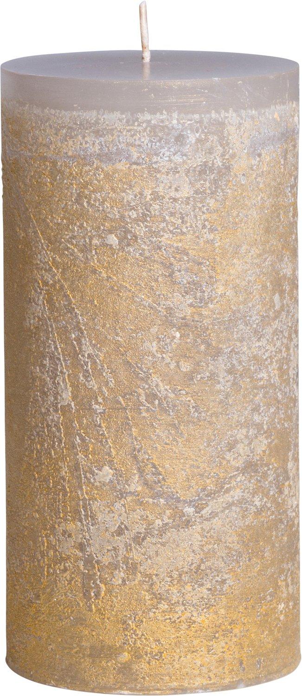 Vance KitiraライトグレーRitz Pillar Candle 3.75 by 4.5 inch ゴールド RT375LTGY 3.75 by 4.5 inch  B07CQPZ442