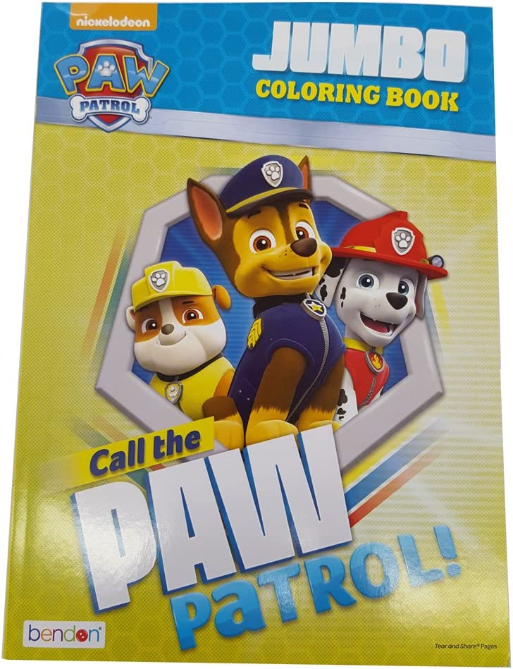 Amazon.com: Bendon Publishing Paw Patrol 96P Jumbo Coloring Book - Call The Paw  Patrol: Toys & Games