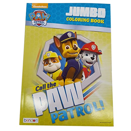 Bendon Publishing Paw Patrol 96p Jumbo Coloring Book Call