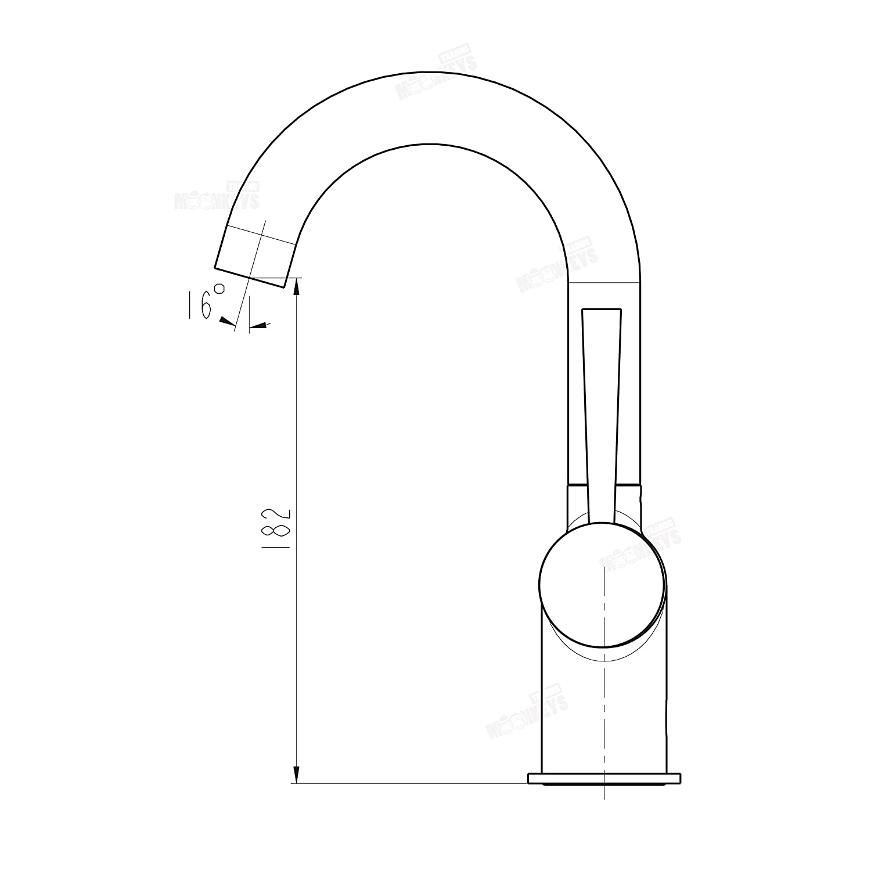 Einhebelmischer für Waschbecken Waschtischarmatur mit