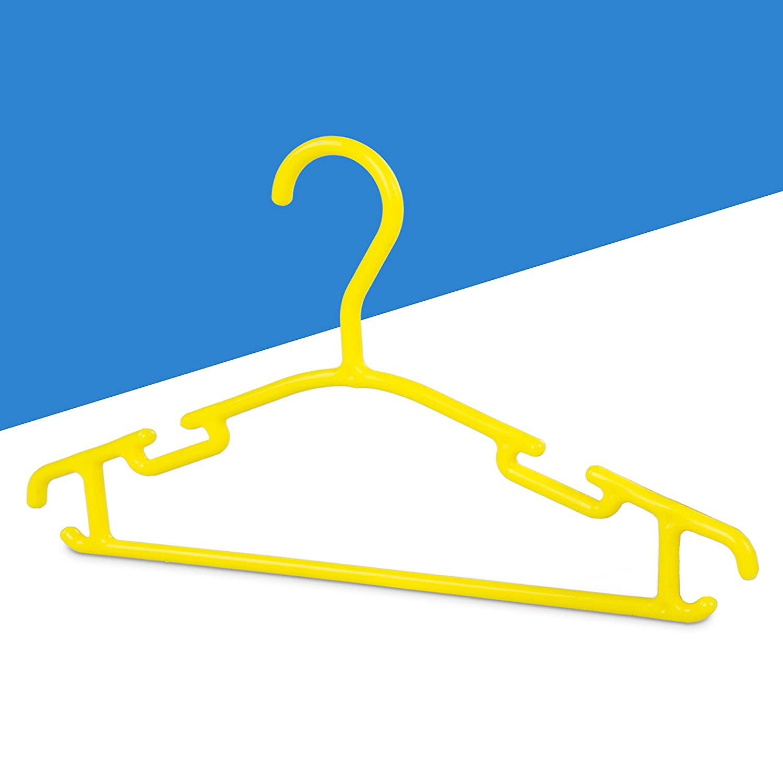 Kunststoff Gelb Grinscard Kinder Kleiderb/ügel 30er Set Kinderzimmer B/ügel 30 St/ück f/ür Kindermode /& Babykleidung