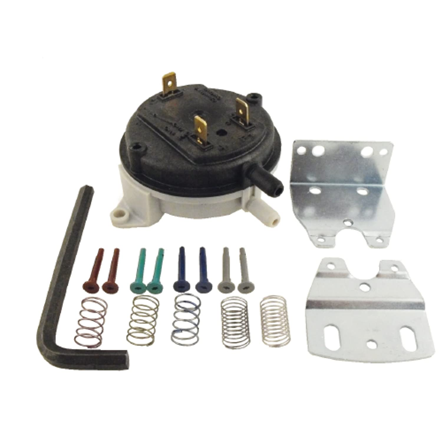 SUPCO NS2000031 Universal Pressure Switch, 100, 000 Cycles, 14'W.C, -40 Degree F to 190 Degree F 14W.C Sealed Unit Parts Co. Inc