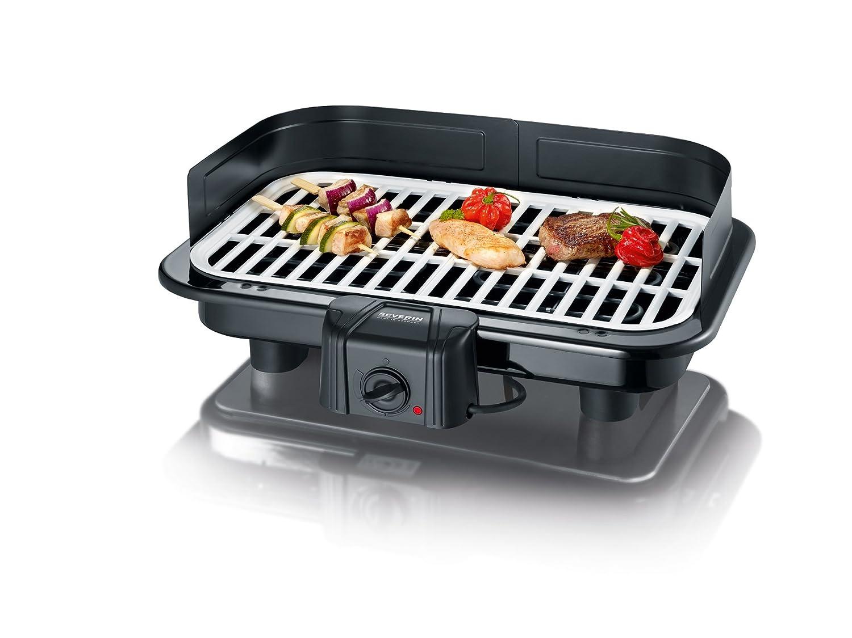 Severin Elektrogrill Defekt : Severin pg barbecue grill mit keramikgussplatte schwarz weiß