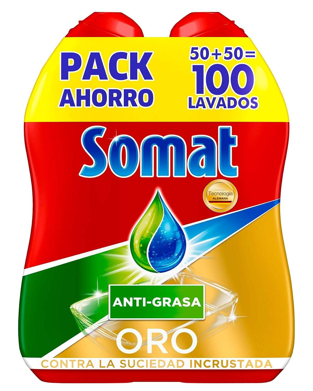 Somat Oro Gel Lavavajillas Antigrasa - 100 Lavados (1.8 l): Amazon ...