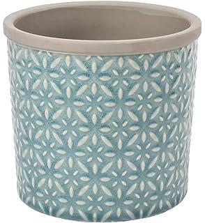 Burgon U0026 Ball Tuscany Indoor Glazed Ceramic Plant Pot Large In Teal Blue