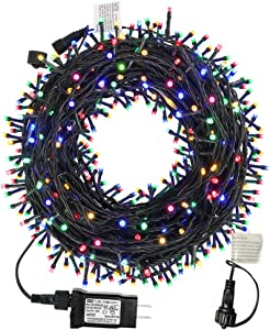 MZD8391 105FT 300LEDs Christmas Lights Outdoor Indoor String Lights 8 Modes Memory Function for Christmas Tree Party Decoration, 100% UL Listed (4 Sets CONNECTABLE) Multi-Color