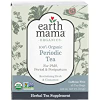 Earth Mama Organic Periodic Tea Bags for Occasional Menstrual Cramps and Postpartum Support, 16-Count