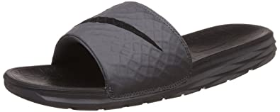 check out dd6b1 a935b Nike Benassi Solarsoft, Chaussures de Fitness Homme, Gris (Dark Grey Black  090