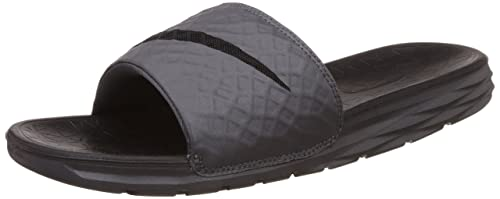promo code 98e92 37a3f Nike Benassi Solarsoft Slide, Scarpe da Fitness Uomo, Grigio (Dark  Grey/Black
