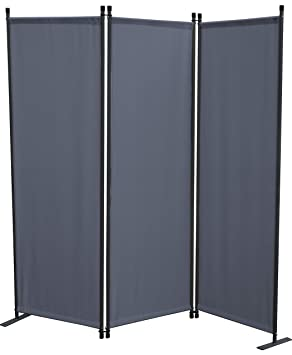 GRASEKAMP Qualität seit 1972 Paravent 3tlg Grau Raumteiler Trennwand ...