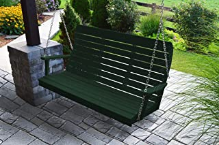 product image for Furniture Barn USA Outdoor 5 Foot Winston Porch Swing with Chain - Turf Green Poly Lumber - Recycled Plastic