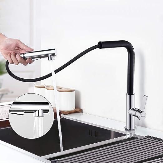 Küchenarmatur Spültischarmatur  Einhand Wasserhahn mit ausziehbar Spüle Brause