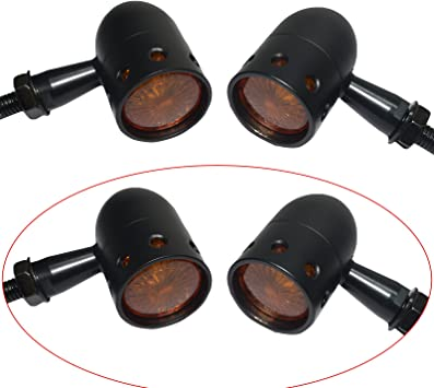 Amber Bullet  Grille 20 LED Running Turn signal Tail Lights Motorcycle Universal