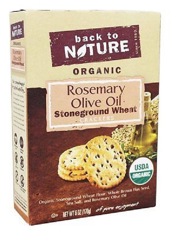 Back/Natur Crackers,Og2,Rosemry&Oli 6 Oz (Pack Of 6)