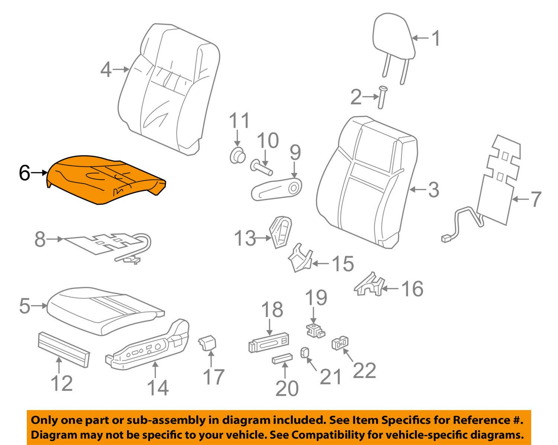 Honda Genuine 81531-T0G-L81ZA Seat Cushion Trim Cover Left Front