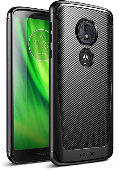 competitive price 06907 accbd Moto G6 Play Case,Moto G6 Forge case, Poetic Karbon Shield [Shock  Absorbing] Slim Fit TPU Case with [Carbon Fiber Texture] for Moto G6  Play/Moto G6 ...