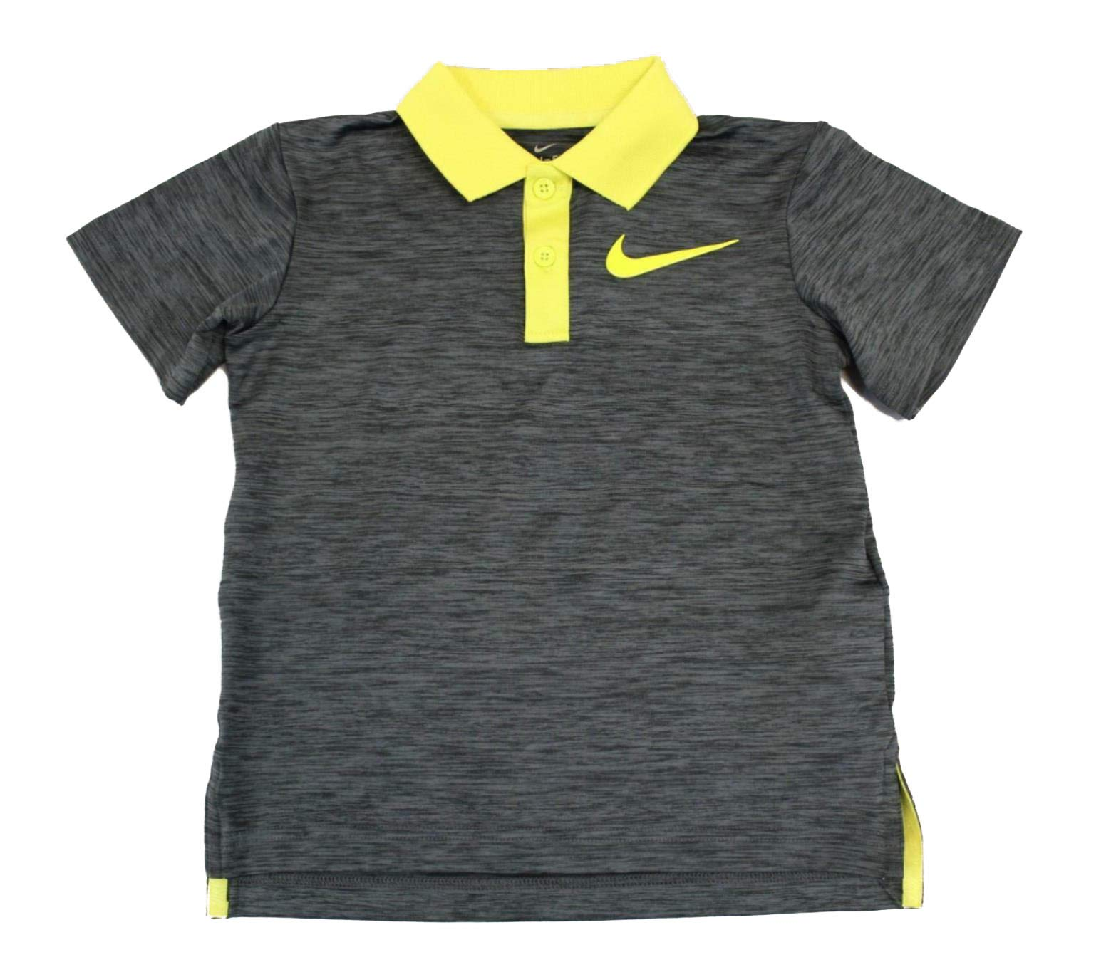 Nike Boys' Short Sleeve Polo Shirt (Anthracite(86C217-G2Y)/Yellow, 4)