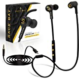 Back Bay 2-in-1 Wireless & Wired Bluetooth Earbuds. Sweatproof Wireless Stereo Headphones with Microphone, 6 Earphone…