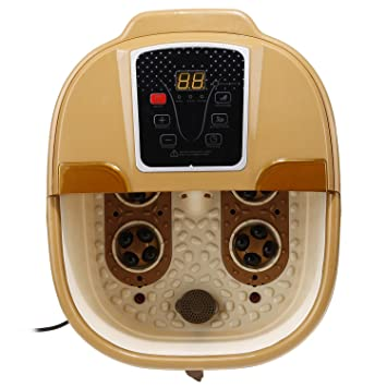 Dtemple Portable Foot Spa Bath Massager Bubble Heat LED Display Vibration Infrared Relax Digital Adjustable Temperature