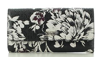 Damen-Geldbörse Portemonnaie Wallet GUESS TAMRA Small Trifold Schwarz Floral