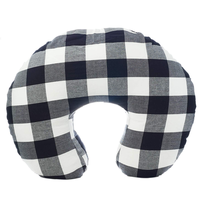 New Org Store Premium Buffalo Check Nursing Pillow Cover | Infant Pillow Slipcover for Breastfeeding Moms (Black & White) by Org Store
