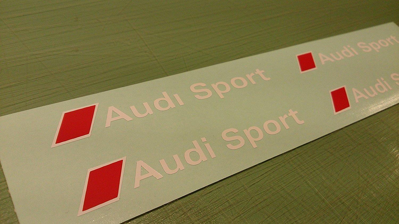 Amazon Com Audi Brake Caliper Decal Audi Sport 4pcs Set 80mm