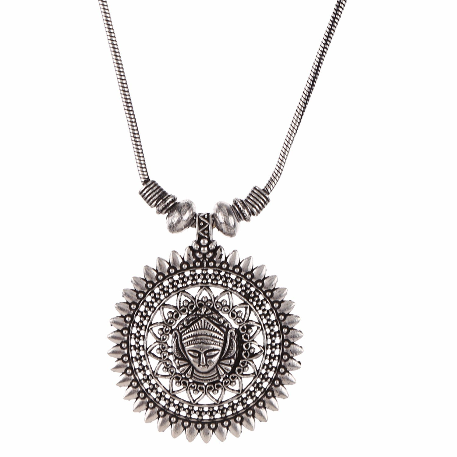Efulgenz Indian Vintage Retro Ethnic Gypsy Oxidized Tone Boho Necklace Jewellery for Girls and Women Gift for Her
