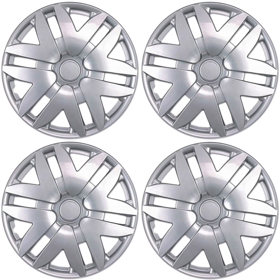 Amazon com bdk toyota sienna hubcaps wheel cover 16 silver replica cover oem replacement 4 pieces automotive