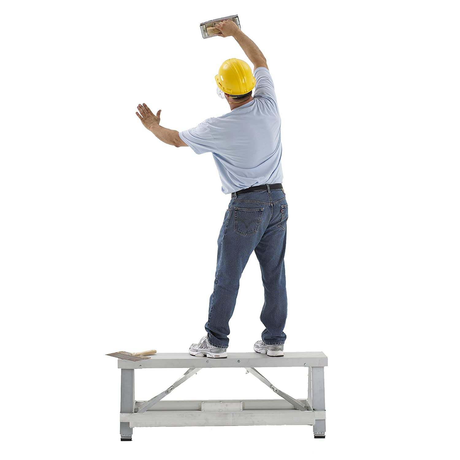 6120 Pentagon Tool Professional Quality Drywall Bench With Adjustable Steps