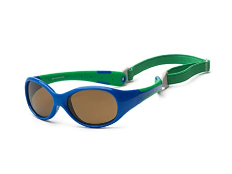 Gafas de sol para koolsun Baby Flex Joven 3 – 6 años | Royal & Green | 100% protección UV | con desmontable Diadema | Optical Clas 1, cat. 3