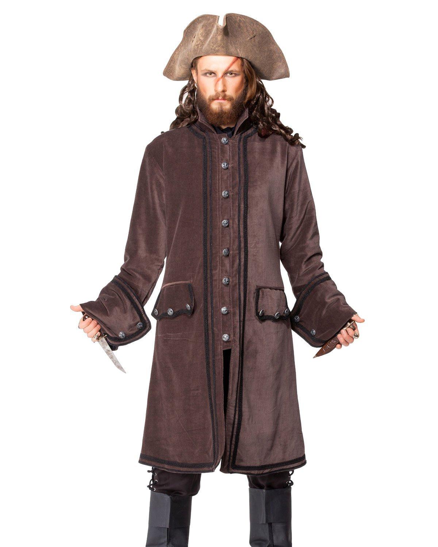 Pirate Medieval Renaissance Calico Jack Coat Jacket Costume [C1408] (Large)