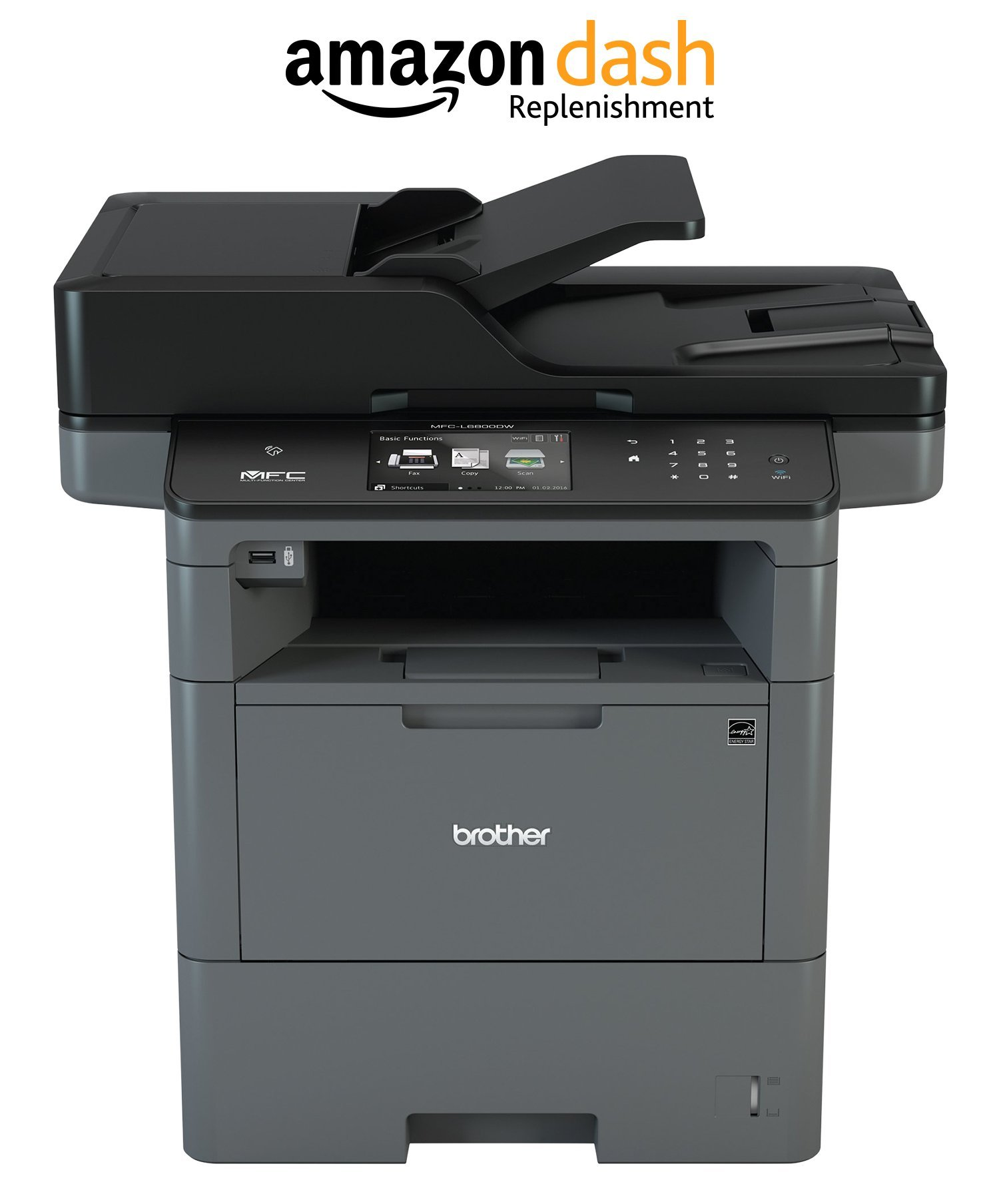 Brother MFCL6800DW Business Laser All-in-One for Mid-Size Workgroups with Higher Print Volumes, Amazon Dash Replenishment Enabled
