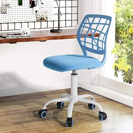Sedia Design Regolabile.Fanilife Sedia Da Ufficio Con Design Regolabile Sedia Da Computer Per Bambini Sedia Da Studio Girevole Per Scrivania Senza Braccioli Per Bambini