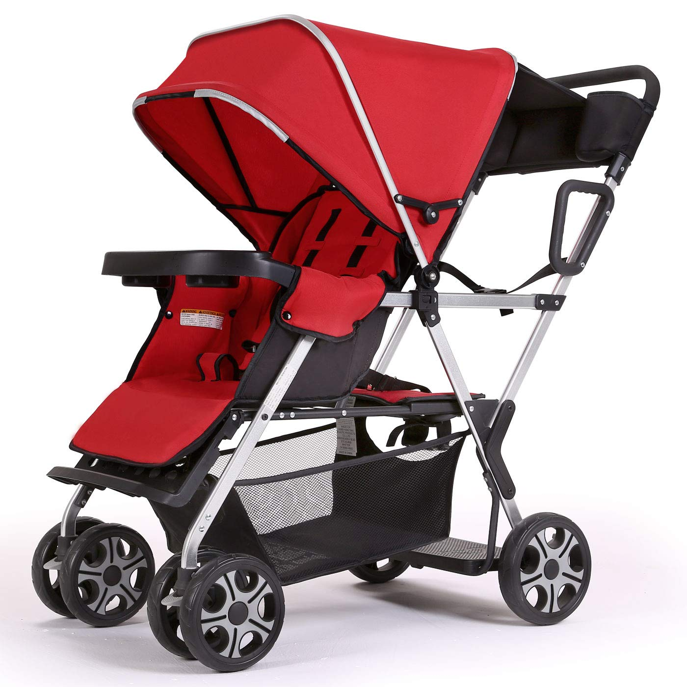 Double Stroller Convenience Urban Twin Carriage Stroller - Cynebaby Tandem Collapsible Stroller All Terrain Double Pushchair for Toddler Girls and Boys Stable Stroller Frame with Bag Organizer by cynebaby
