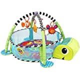 3-in-1 Baby Activity Gym, Early Education Activity Gym Play Mat Toy & Ball Pit with Hanging Toys, Large Baby Play Gym Learnin