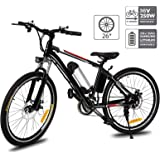 Aceshin 26'' Electric Mountain Bike with Removable Large Capacity Lithium-Ion Battery (36V 250W), Electric Bike 21 Speed…