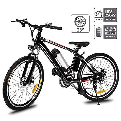 Electric Sports Bike >> Amazon Com Aceshin 26 Electric Mountain Bike With Removable