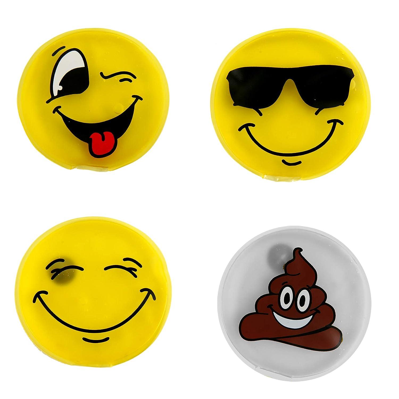 Vier Modelle Sortiert Annastore 4 x Taschenw/ärmer Funny Face
