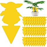 50 Pack Dual-Sided Sticky Fruit Fly Trap and Baby Yoda Shape Fungus Gnat Traps Killer for Indoor and Outdoor - Gnat Traps for