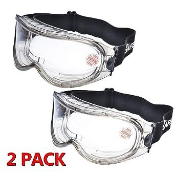 antivaho a prueba de viento con A prueba de polvo y salpicaduras Gafas profesionales Gafas Protecci/ón UV Antipolvo Gafas de recubrimiento para protecci/ón ocular Pack de 3 Gafas de seguridad