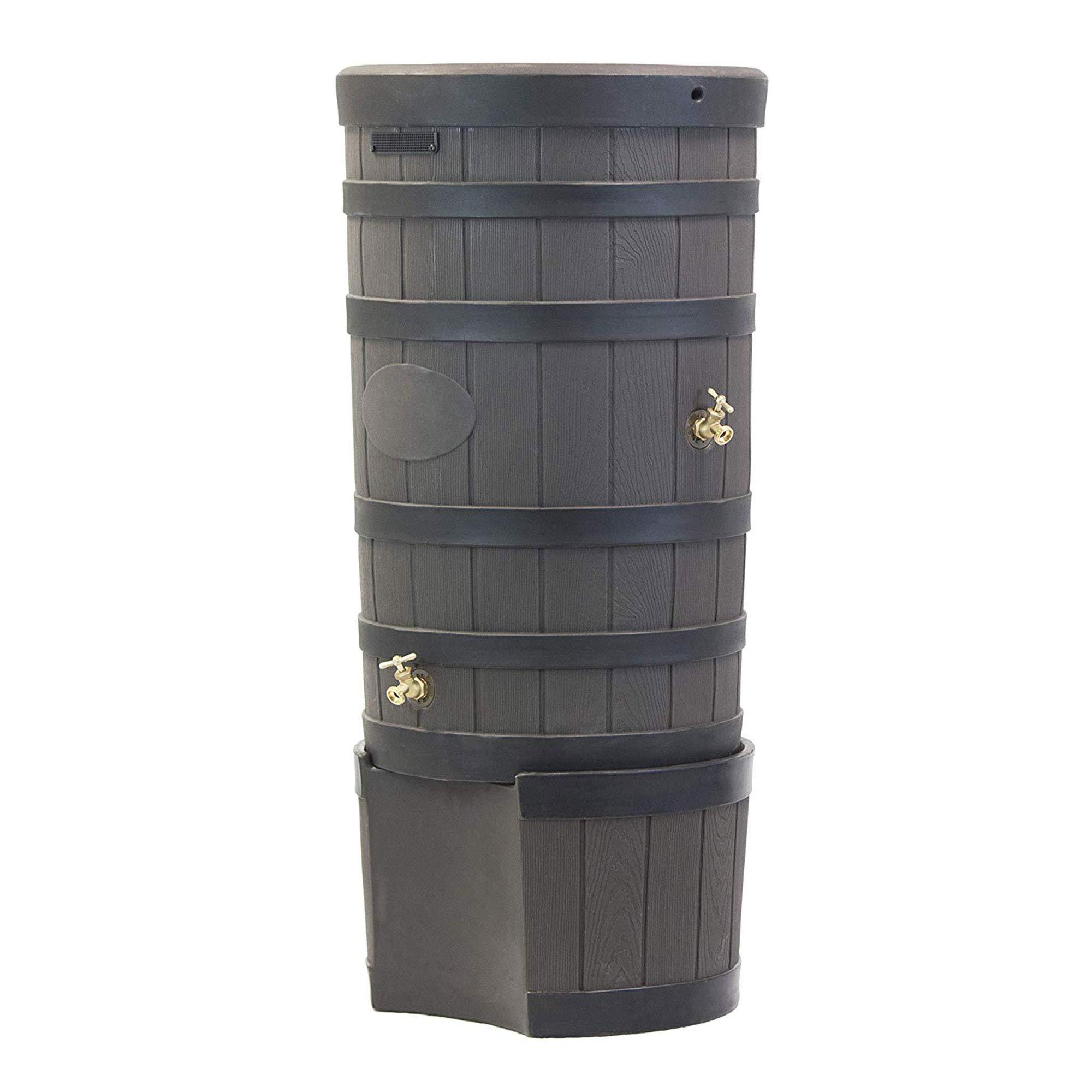 Good Ideas RW-2SD050-OAK Wizard American Darkened Ribs and Stand-Oak Rain Barrel by Good Ideas