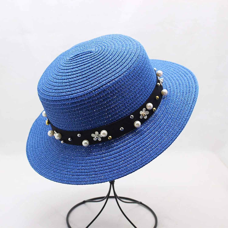 Sun Hat Women Beach Sun Visor for Pearl Sun Hat Wide Brim Straw Hat,9,Children