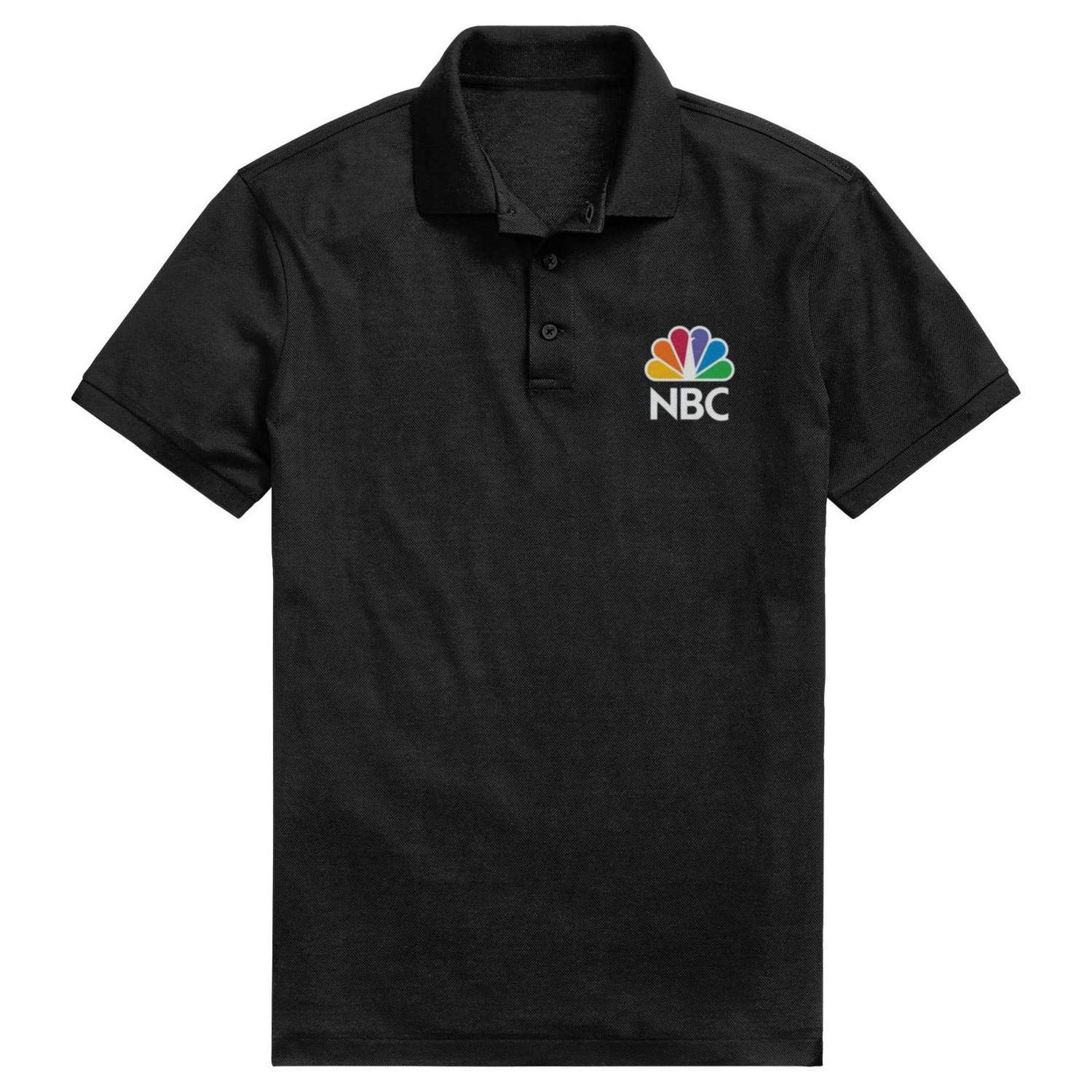 NBC/_Logo/_Triblend/_Royal Mens Classic Pique Polo T Shirt Fitness Adjustable Office Short-Sleeves