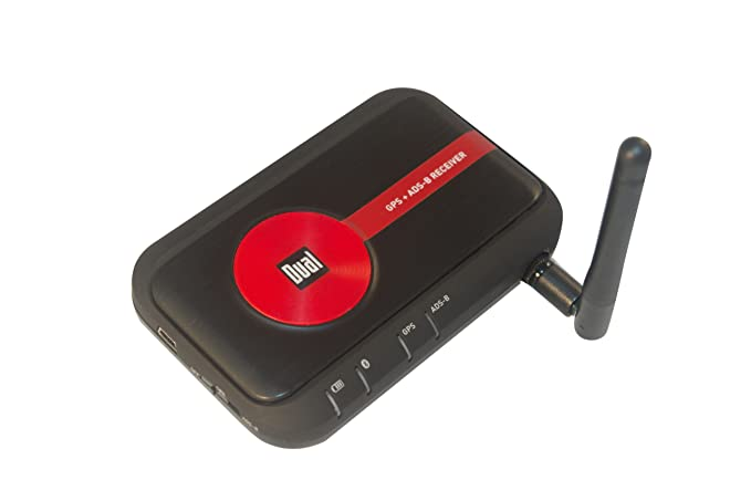 Dual Electronics XGPS170 Bluetooth GPS + ADS-B Weather and Traffic Receiver  for the iPad and Android tablets