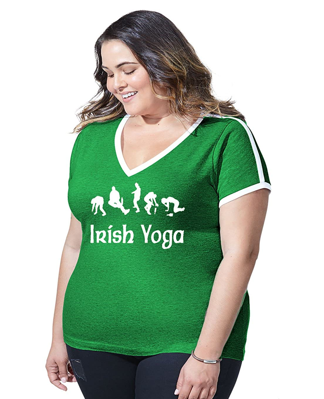 812772910 Amazon.com: Women's Plus Size Irish Yoga Funny Drinking St. Patricks Day  Ringer V-Neck T Shirt: Clothing