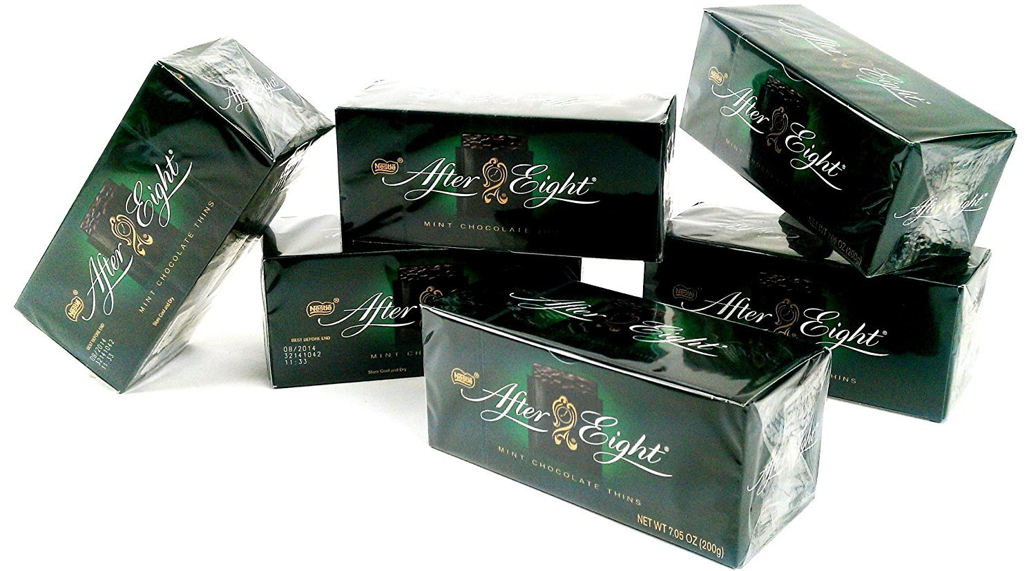 Nestle After Eight Mint Chocolate Thins, 7.05 Ounce (Pack of 6)