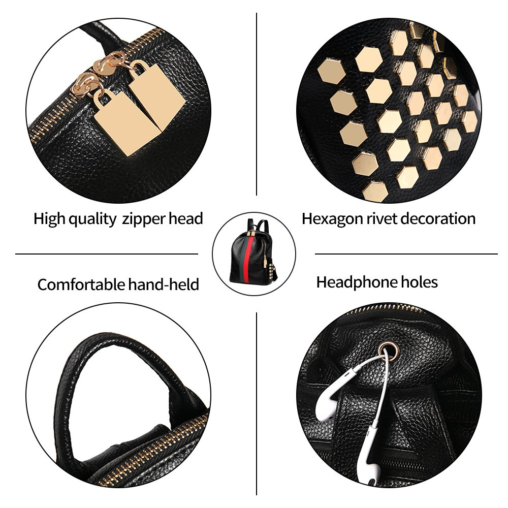 Mynos Backpack Bag Women Mini Rucksack Travel Bookbag For Girls Backpack Leather Bag Ladies Purse And Handbags by Mynos (Image #5)