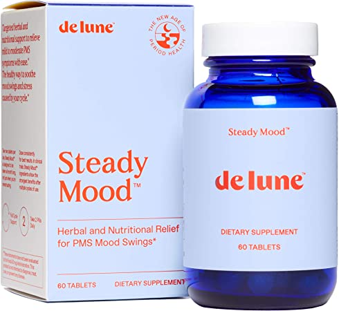 De Lune, Steady Mood, Natural Relief for PMS Mood Swings and Stress, 60 Tablets
