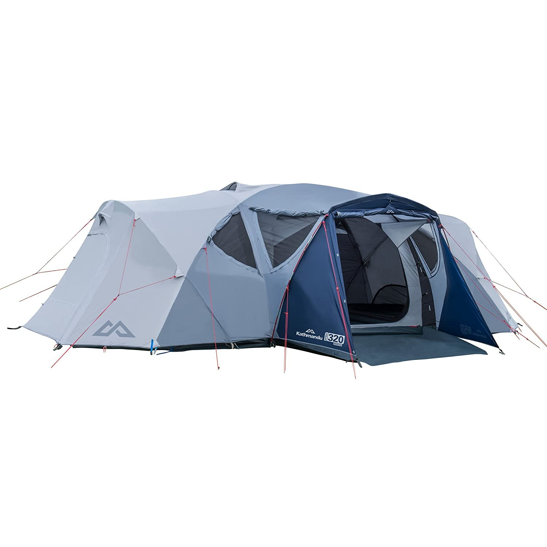 Dark Navy Cloud 6PER Kathmandu Retreat 320 6 Person Module 3 Room Family Camping Dome Tent